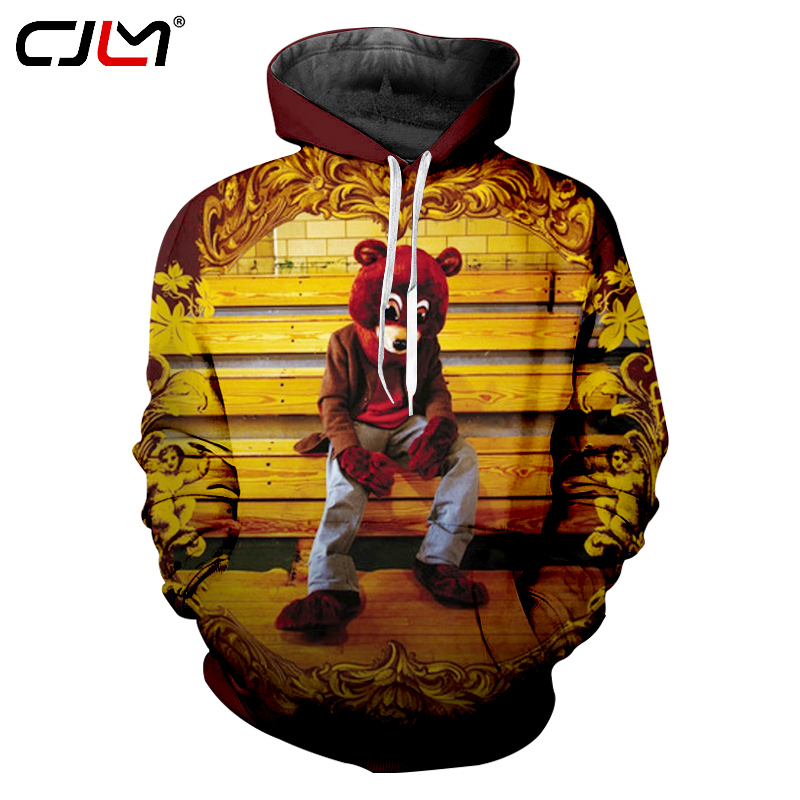 Cjlm Kanye West Hoodies Men S 3d Print The College Dropout