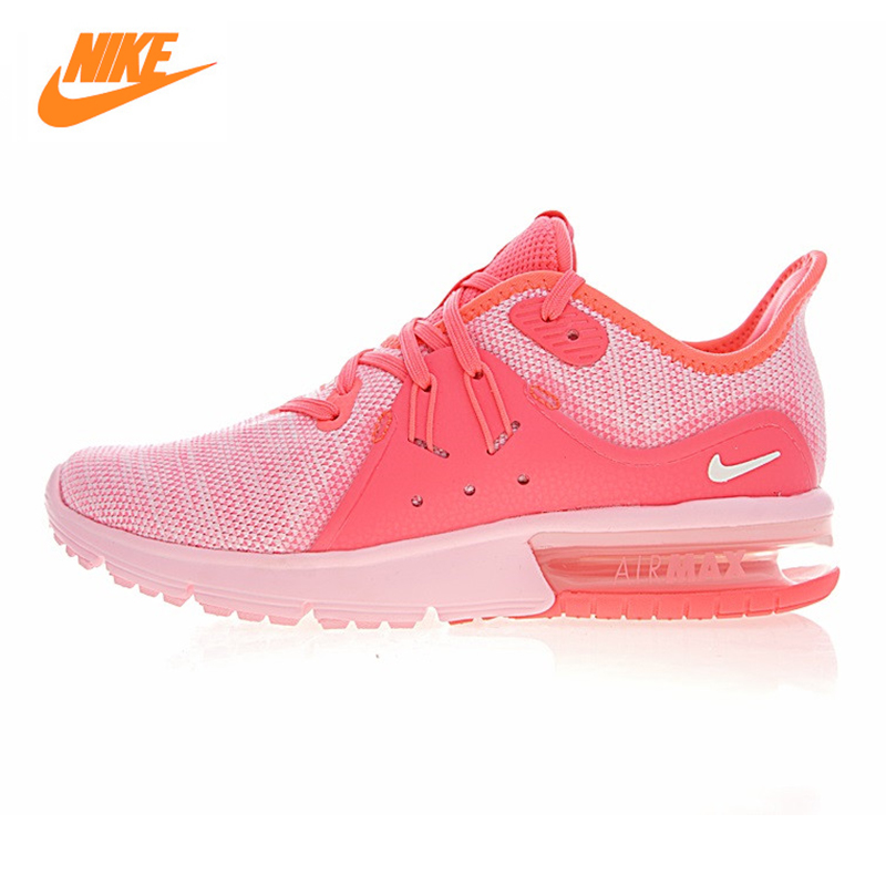 NIKE AIR MAX SEQUENT Women s Running Shoes Original Sports Outdoor Sneakers Shoes Pink Shock Absorbing