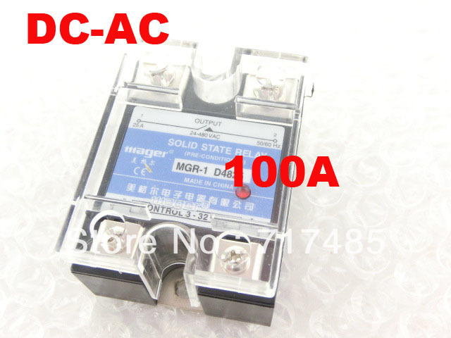 100% Origin Brand New Solid State Relay  DC-AC 24V-480VAC  SSR 100A MGR-1 D48100 Free Shipping mager genuine new original ssr 80dd single phase solid state relay 24v dc controlled dc 80a mgr 1 dd220d80