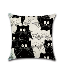 SBB Cartoon Totoro Pattern Pillowcase Decorative Pillows For Sofa Seat Cushion Cover Linen Throw Pillow Case Cover Home decorate недорого
