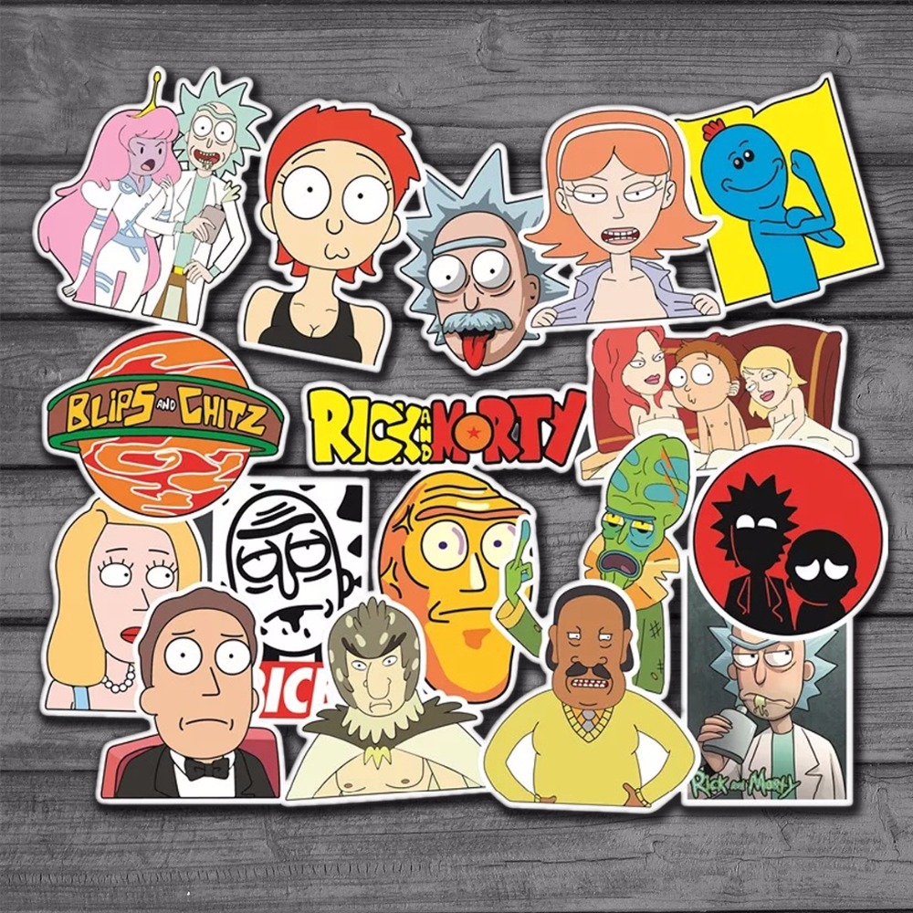 50Pcs/Lot American Drama Rick and Morty Funny Sticker Kids Toys Decal For Car Laptop Bicycle Motorcycle On Notebook Stickers стоимость