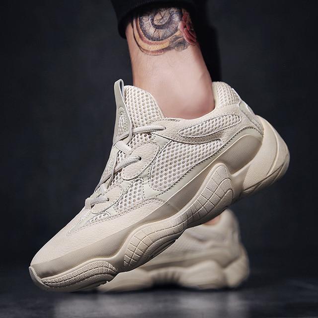 626e6cf3b O pai do vintage sapatilhas 2018 moda kanye west luz malha respirável dos homens  sapatos casuais