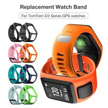 Silicone Replacement Watchband Wrist Band Strap for TomTom 2 3 Series Runner 2 3 Spark Series Golfer 2 Adventurer GPS Watch