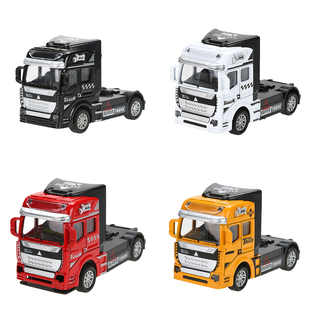 1:32 Scale Alloy Pull Back Truck Head Pull Back Alloy Car Model Children Kids Diecast Model Toy Christmas Gift 4 Colors