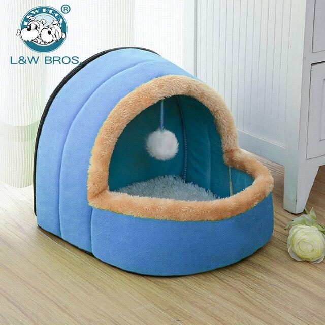 5 Colori Pet Dog Cat Letto Pieghevole Casa Cucciolo Con Il Giocattolo palla Cald