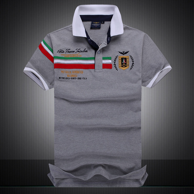 2017 summer new men's boutique embroidery breathable 100% cotton polo shirt lapel Men's Air Force One polo shirt