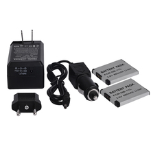 2 pcs NB-11L Battery + Charger for Canon A2300is A2400is A3400is A4000is + Automobile Charger
