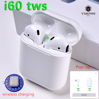 i60 TWS Pop up 1:1 Separate use Wireless Earbuds Wireless Charging Bluetooth Earphones Headsets PK i30 i20 i12 i10 not w1 chip
