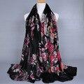 Мода printe кешью вискоза женщин цветочные шарф повязка долго голову хиджаб мусульманские хлопок вуали шарфы/шарф 10 шт./лот