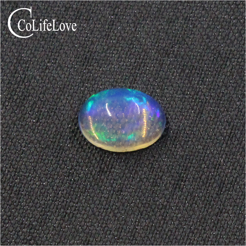 7mm*9mm natural blue brilliance opal loose gemstone for jewelry DIY