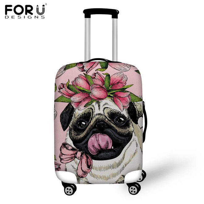 LAVOVO Puppy Dog Dachshund Luggage Cover Suitcase Protector Carry On Covers