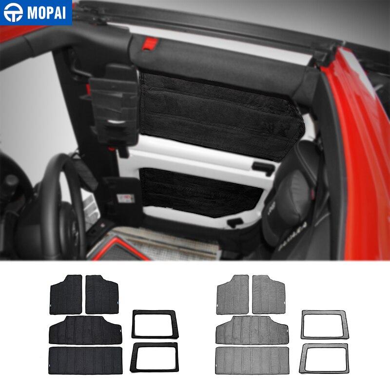 MOPAI Intérieur De la Voiture Arrière Fenêtre Et Toit Maille Hardtop D'isolation thermique Coton Kit pour Jeep Wrangler JK 2012 Up style de voiture