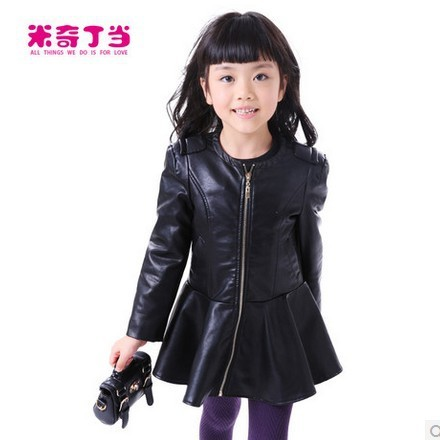 Children Fashion girls leather jacket,brand autumn jacket ...