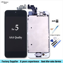 Replacement Display For iPhone 5 LCD Touch Digitizer Screen for iphone5 Front Camera Speaker Tempered Glass Tools Gift