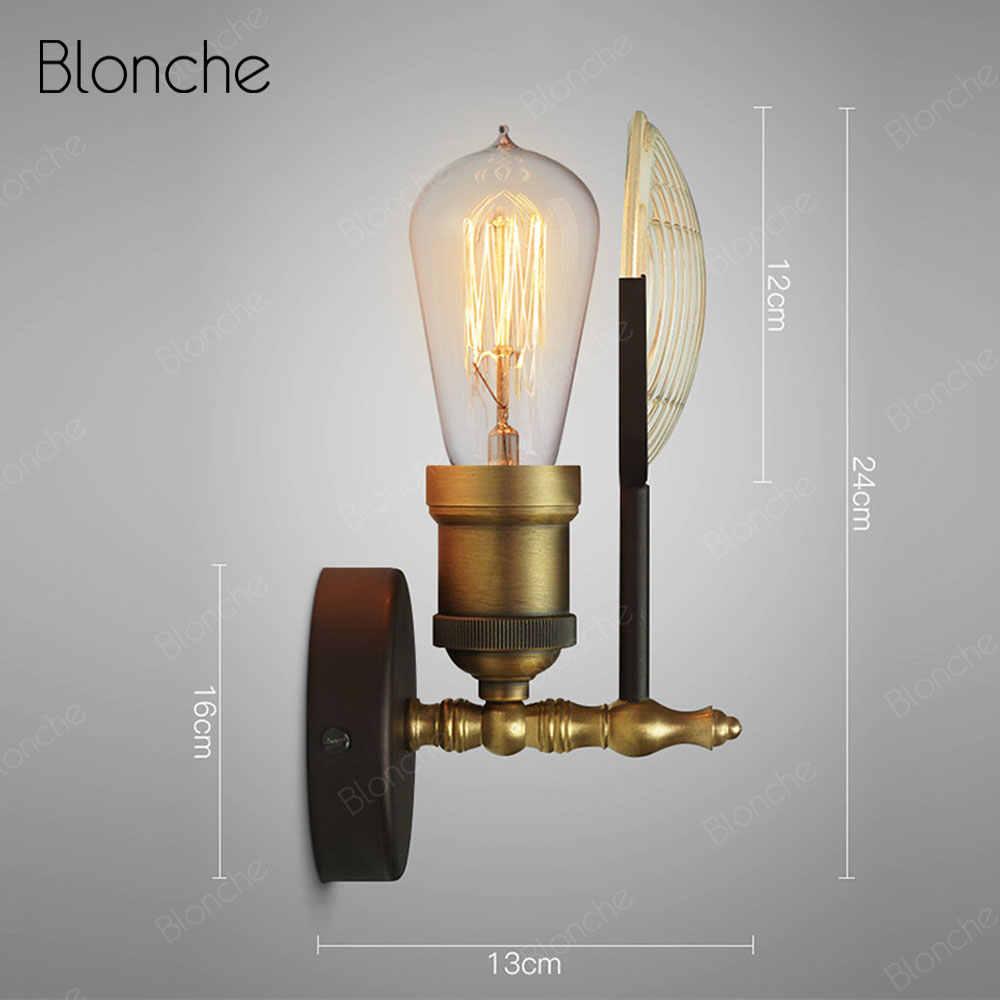 Винтажная настенная лампа промышленные бра, настенные светильники Лофт декоративное стекло освещение в помещении приспособление для дома лестница и спальня Led Ретро лампа