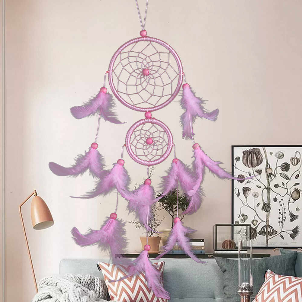 Handmade Dream Catcher Feathers Decoration nordic style kids decoration kinderkamer decor For Car Wall Hanging Room Home Decor