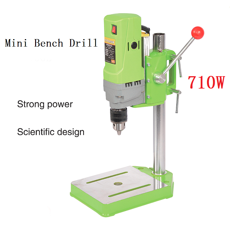 1 13mm Electric For Drilling Wood Mini Bench Variable Speed Metal DIY Tools 710W Press Drill Drill 220V Electric