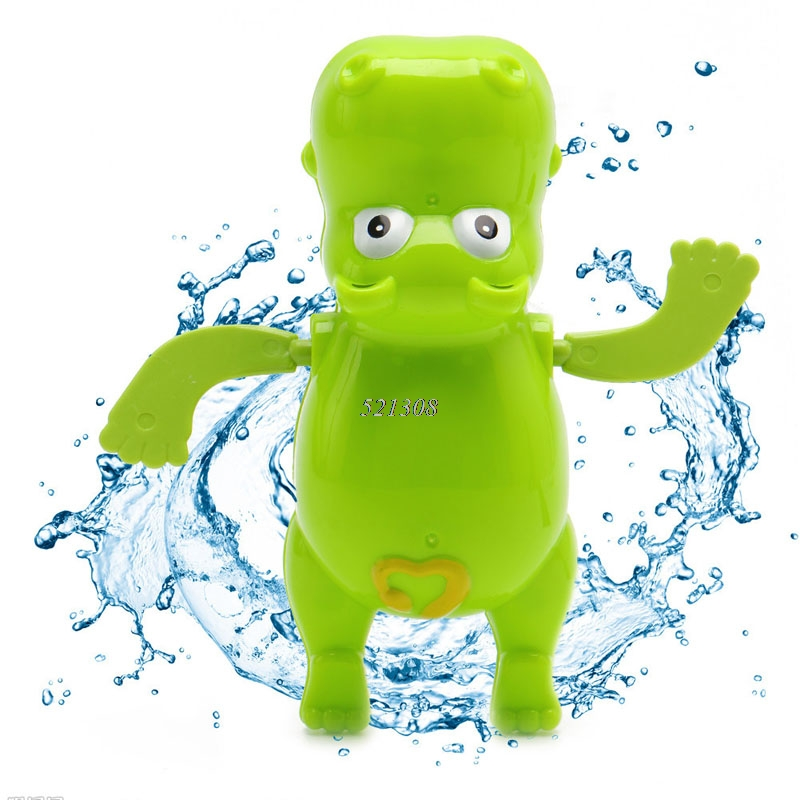 1pc Children Baby Bathing Float Hippo Animal Clockwork Dabbling Toy Funny