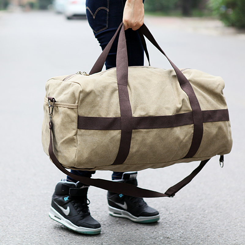 New Canvas Men Travel Bag Large Capacity Women Hand Luggage Travel Duffle Bag Weekend Bags Multifunctional Reistas Shoulder Bag 4