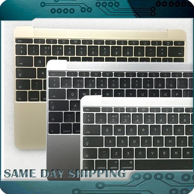 2016 NUEVO Genuino para Apple MacBook 12 Retina A1534 Top Case con Topcase Teclado REINO UNIDO Inglés Carcasa Superior MLHA2 MLHC2 EMC 2991