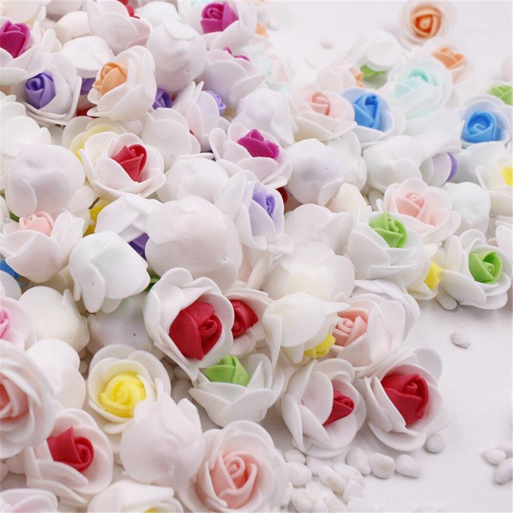 30pcs/lot Mini PE Foam Rose Flower Head Artificial Flowers Handmade DIY Wedding Home Decoration Festive & Party Supplies