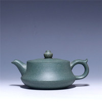 170ml Green mud ceramic teapot Wholesale raw ore purple clay pu'er black tea teapot Yixing Zisha tea pot Free shipping