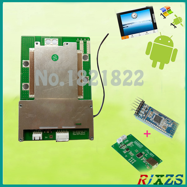 US $57 06 |4S 80A Lifepo4 smart bms pcm with android Bluetooth app UART  correspondence bms wi software (APP) monitor-in Integrated Circuits from