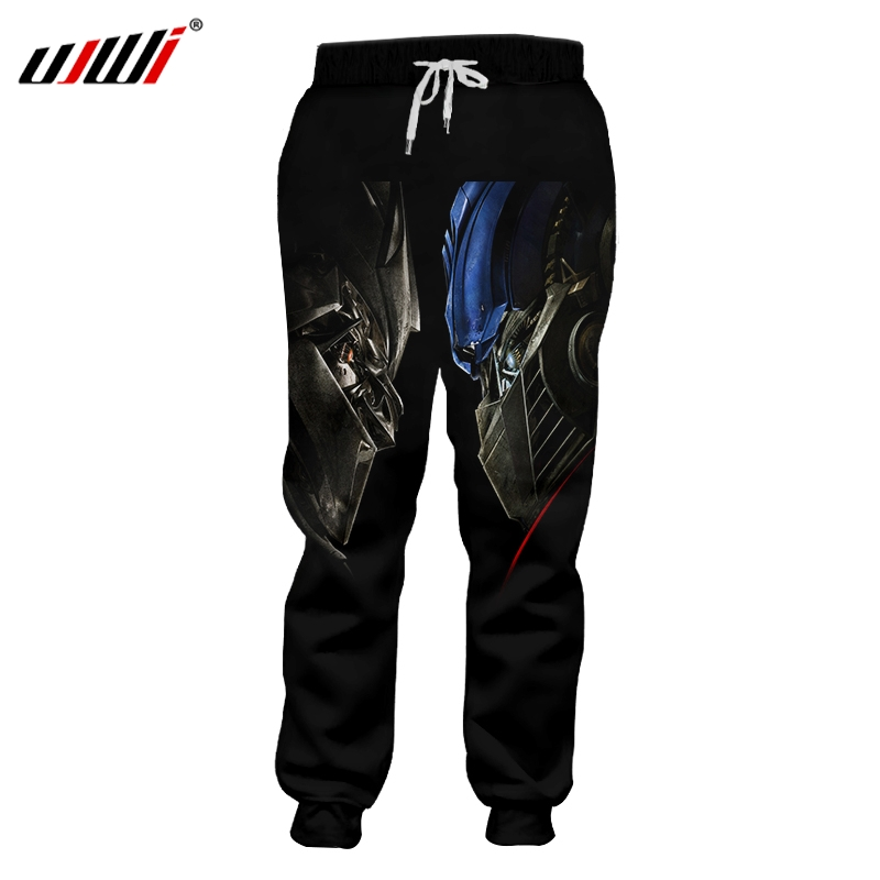 UJWI Autumn New Man Sweatpants 3D Printed Handsome Warrior Armor Oversized Clothing Men Spring Men's Trousers Whosale