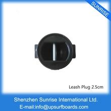 Black Leash Plug SUP Board 2.5CM