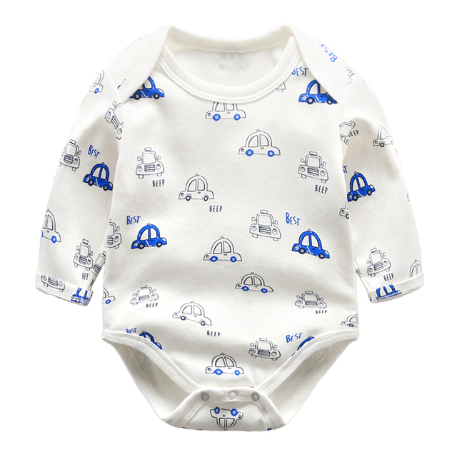 newborn baby clothes boys bodysuits spring cotton long sleeve climbing clothing