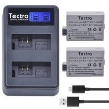 Tectra 2PCS LP-E5 LPE5 Battery + LCD USB Twin Charger for Canon EOS Insurgent XS Insurgent T1i Insurgent XSi 1000D 500D 450D Kiss X3 Kiss