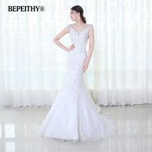72f0f5fd5 BEPEITHY De encaje De la boda Vestido De hombro Vestido De Novia De  Casamento 2019 sirena vestidos De Novia Tren De la Corte