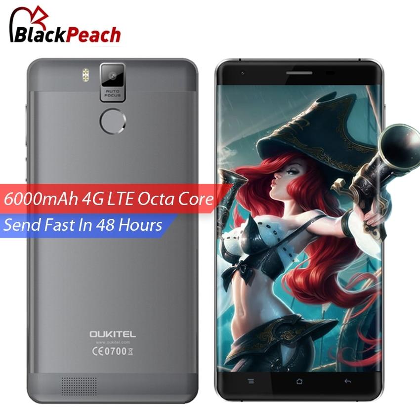 Цена за Oukitel K6000 Pro Смартфон 4 Г LTE 5.5 дюймов FHD MTK6753 Octa ядро Android 6.0 Мобильный Сотовый Телефон 16MP 3 ГБ RAM 32 ГБ Отпечатков Пальцев