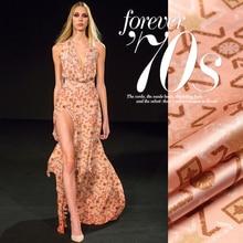 140cm broad 16.5mm  print orange silk crepe satin plain cloth for girls's and males's costume shirt garments pants