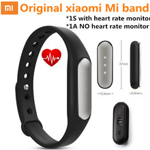 Оригинал xiaomi mi группа 1 s 1a смарт браслеты miband heart rate monitor фитнес-трекер импульса активации fitbit для android