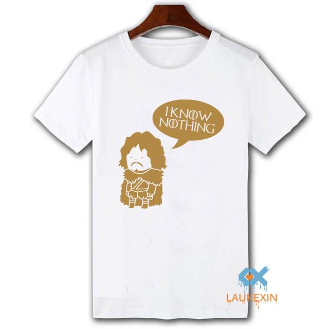 Game Of Thrones Jon Snow 100% Cotton Casual Fashion Men's T-Shirt