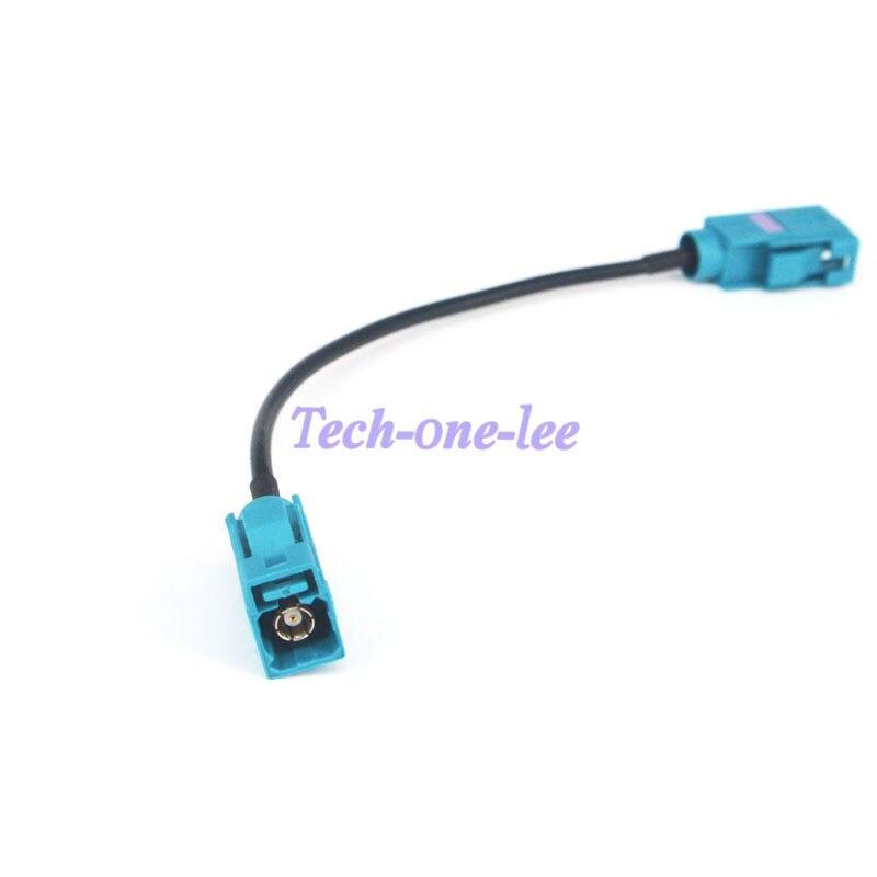 bilder für Fakra Z Buchse auf Buchse RF Coax Adapter GPS Externe Antenne Kabel Zopf Jumper Kabel 0,5 Füße