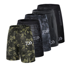 2019 Dawa Summer Short Fishing Trousers Camouflage Outdoor Pants Breathable Shorts Quick drying Sports Britches
