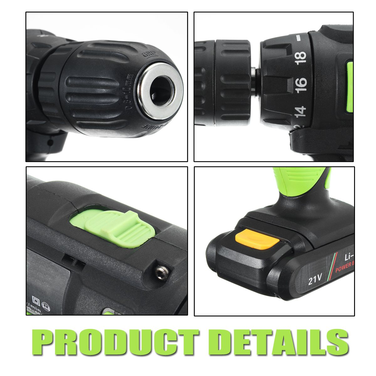 21V Electric Hammer Rechargeable Wireless Mini Electric Drill Bit Multifunctional Electric Screwdriver Torque drill +2 Batteries