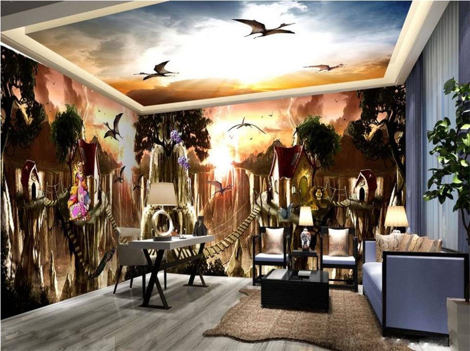custom photo 3d large wall wallpaper mural HD Ancient dinosaur era photo whole space background wall non-woven photo wallpaper custom 3d photo wallpaper mural kids room non woven wall sticker color graffiti photo bedroom sofa tv background wall wallpaper