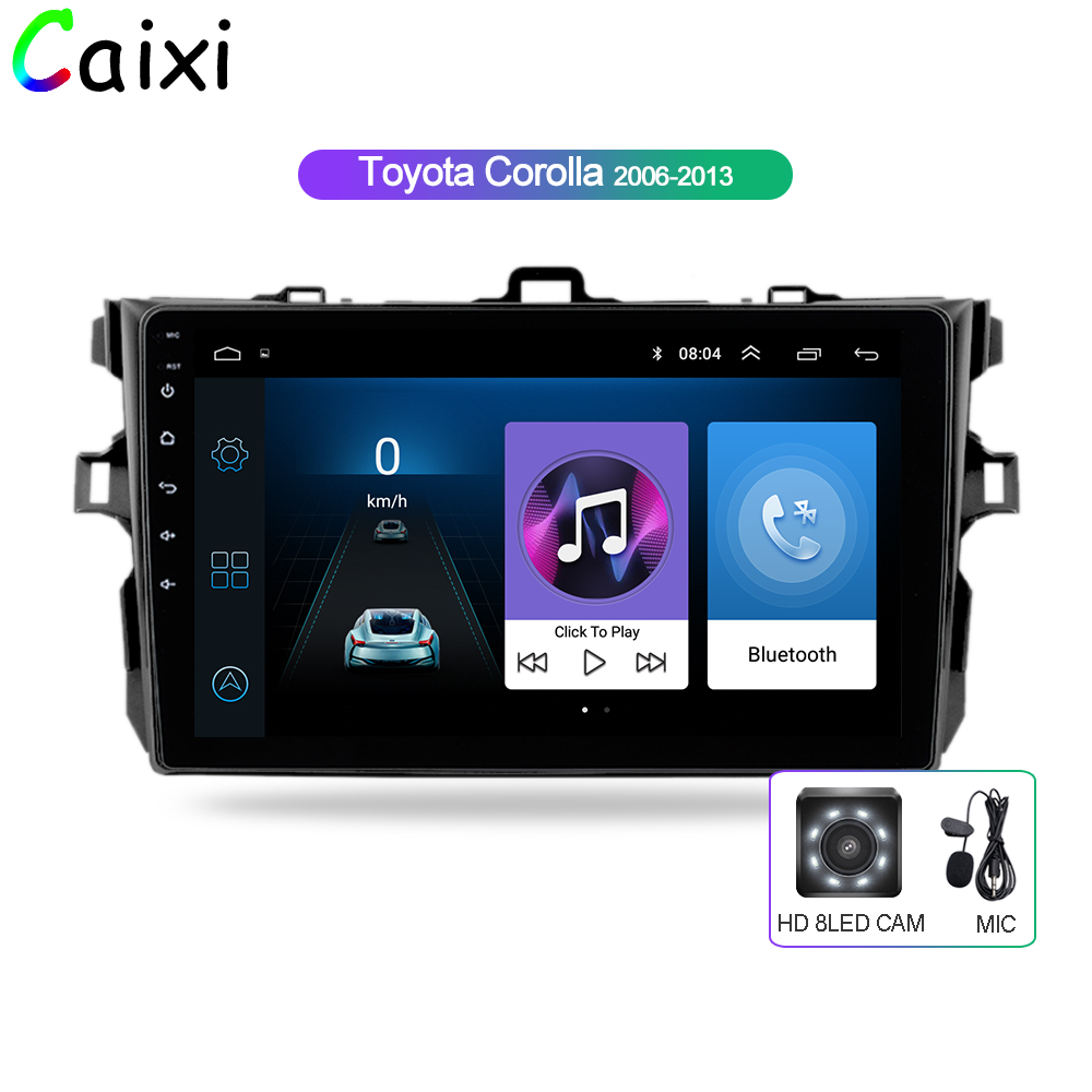 Android 8 1 9inch 2Din Car Radio For Toyota Corolla 2006 2007 2008 2009 2010 2011