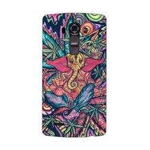 Funny Trippy Elephant 2016 Porpular Cool UV High Quality UV Black Bag Case For LG G3