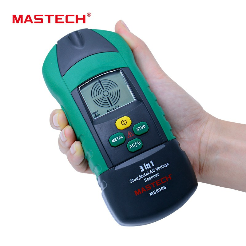 MASTECH MS6906 3 en 1 multi-fonction goujon métal AC tension Scanner détecteur testeur épaisseur jauge w/NCV Test