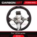 Светодиодный гоночный руль для BMW на возраст 1, 2, 3, 4, 5, серии F30 F31 F32 F33 F34 F10 F15 ЖК-дисплей дисплею Гонки Рулевое колесо из углеродного волокна