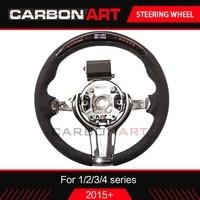 LED racing steering wheel for BMW 1 2 3 4 5 series F30 F31 F32 F33 F34 F10 F15 LCD race display carbon fiber steering wheel