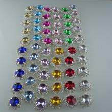 Аппликация из смолы с кристаллами 14 мм круглые стеклянные стразы Серебряная чашка коготь окантовка одежды Обувь Аппликация Свадебная цепочка 10 см
