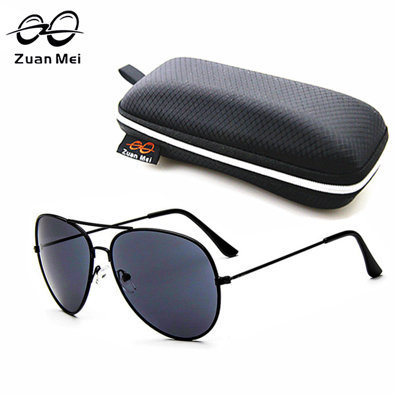 e717dd891ae711 ᗗZuan Mei Pilote lunettes de Soleil Hommes Alliage Lunettes de ...