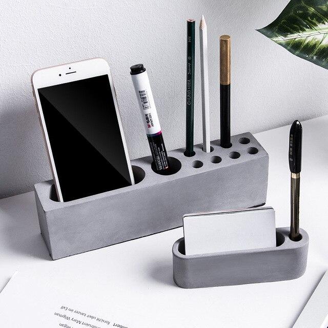 Molde de concreto para celular, suporte para telefone, argila de cimento, decoração de mesa, suporte para cartão, gesso, artesanato, silicone