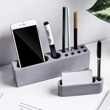 Penholder Concrete Molds Phone Bracket Cement Clay Mold Desk Decor Pen Card Holder Plaster Craft Silicone Mould