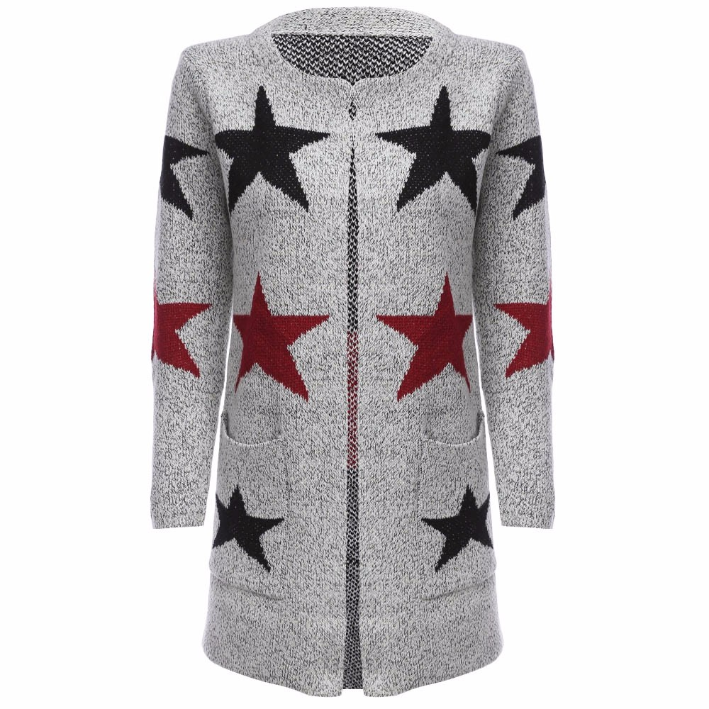 Cashmere Cardigans Women Winter Long Coat Black Star Pattern Female Cardigan  Knitted Sweater(China ( - Online Get Cheap Patterned Cardigans -Aliexpress.com Alibaba Group